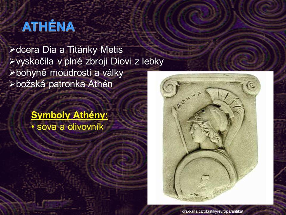 APOLLON  dvojče Artemidy  bůh slunce, světla, pravdy  patřily mu také hudba, poezie, věda a léčení  vytvořil delfské orákulum Apollonův symbol: va