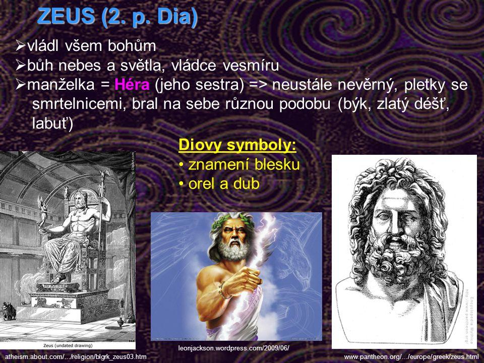 Na úvod:  řecké náboženství – polyteistické = tj. víra v existenci mnoha božských bytostí  bohové se velmi podobali lidem, měli stejné potřeby jako