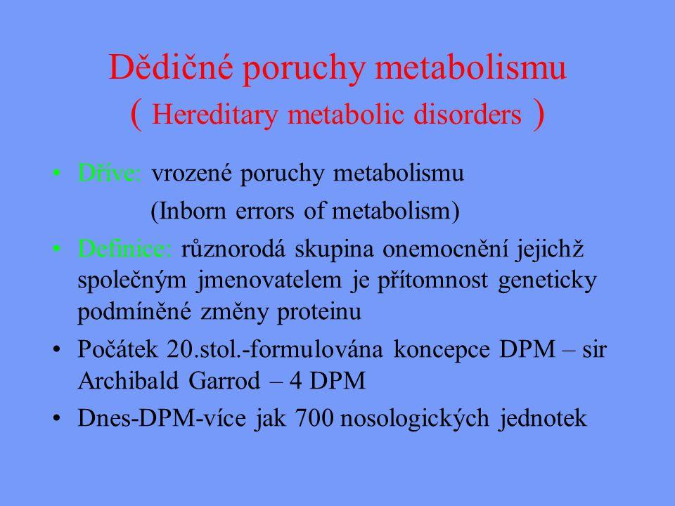 Hyperamonémie typ I Příčina: deficit karbamoylfosfátsyntetázy Klinika.