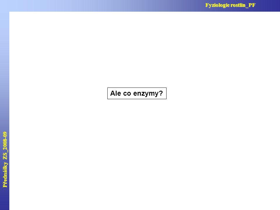 Ale co enzymy? Přednášky ZS_2008-09 Fyziologie rostlin_PF