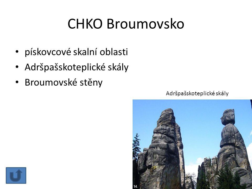 CHKO Broumovsko pískovcové skalní oblasti Adršpašskoteplické skály Broumovské stěny Adršpašskoteplické skály 14.