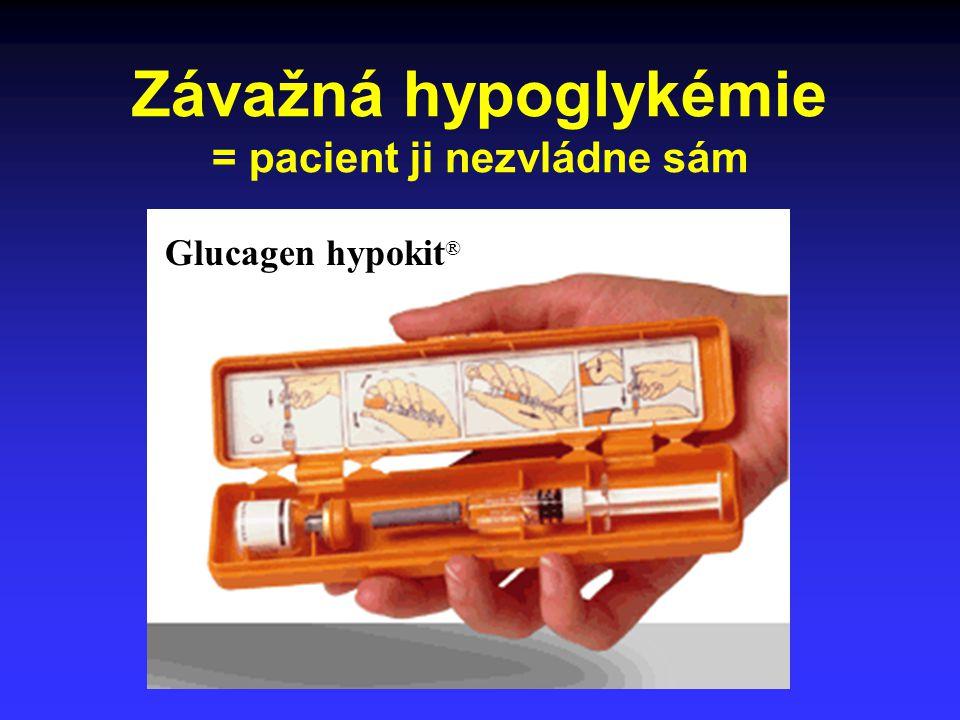 Závažná hypoglykémie = pacient ji nezvládne sám Glucagen hypokit ®