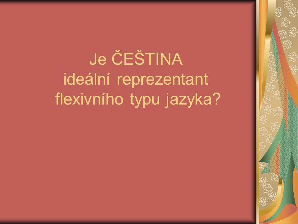 Je ČEŠTINA ideální reprezentant flexivního typu jazyka