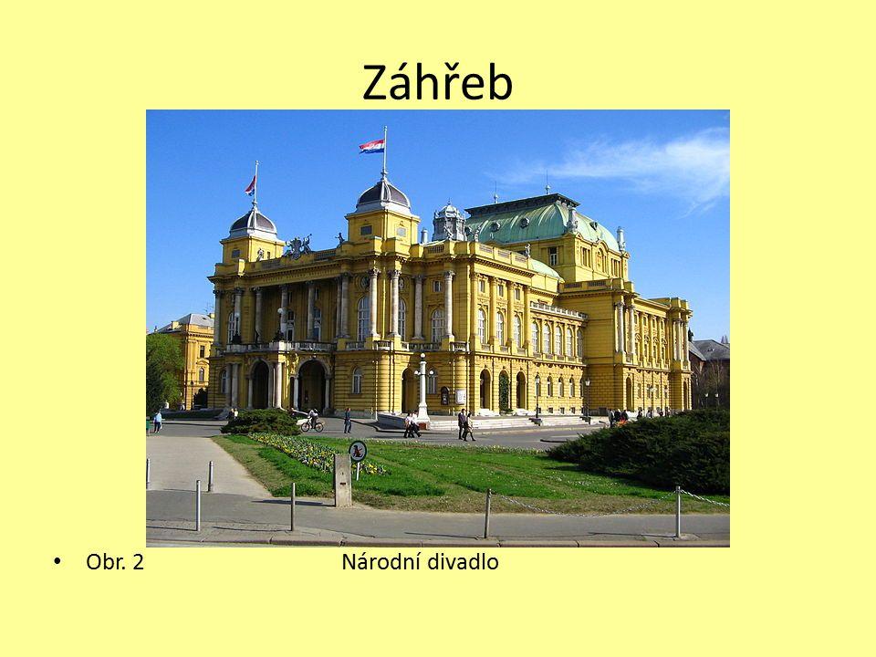 Záhřeb Obr. 2 Národní divadlo