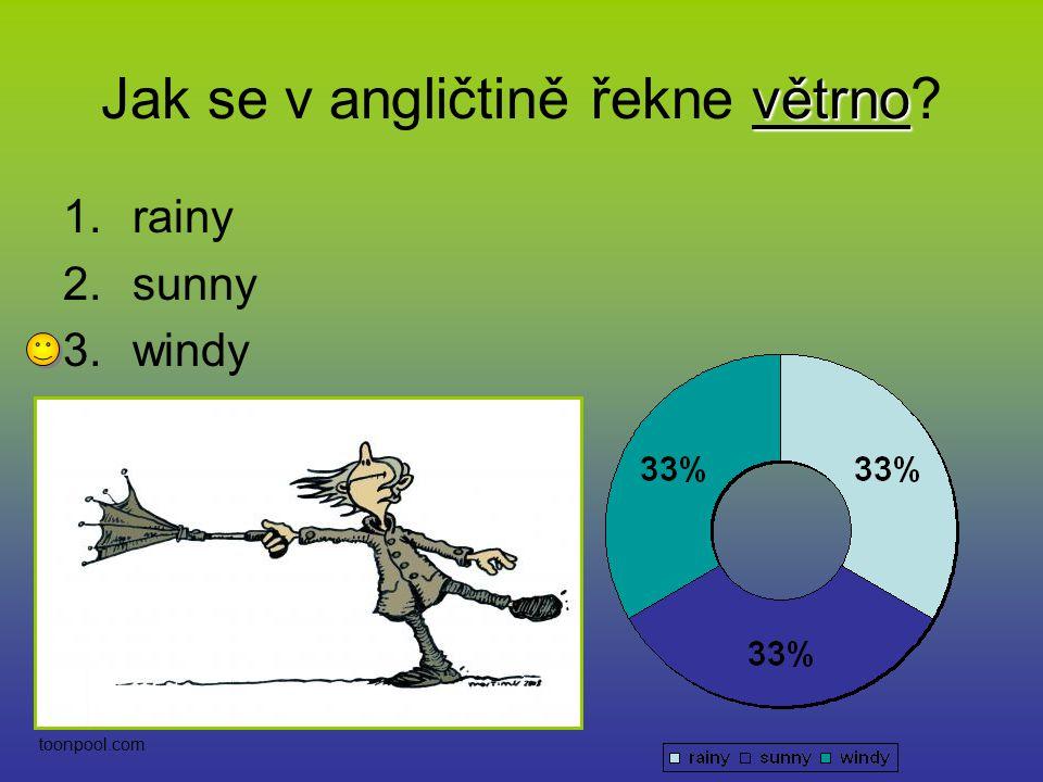 SUNNY SUNNY znamená v překladu slunečno. Souhlasíte? 1.Ano 2.Ne etftrends.com