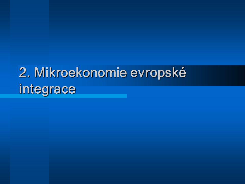 2. Mikroekonomie evropské integrace