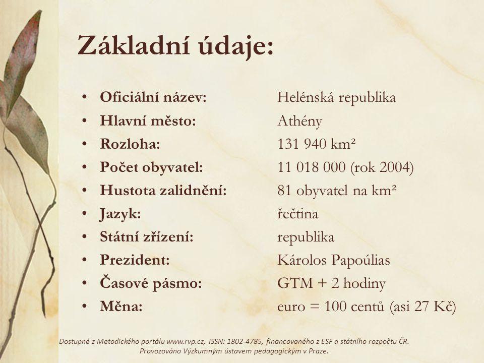 Náměty na referáty: Název,,Řecko'' (etymologie – vznik) Řečtina (mluvená, psaná, vznik, používání) Podrobná historie Řecka (od vzniku až do dnešní doby) Fauna, flóra, geografie, podnebí (příroda) Více o Krétě (nebo jiných ostrovech) Politika v Řecku (rozdělní území apod.) Prezident Řecka (+ hlavy státu v minulosti) Členství Řecka v Evropské unii (+ vztahy s jinými zeměmi) Dostupné z Metodického portálu www.rvp.cz, ISSN: 1802-4785, financovaného z ESF a státního rozpočtu ČR.
