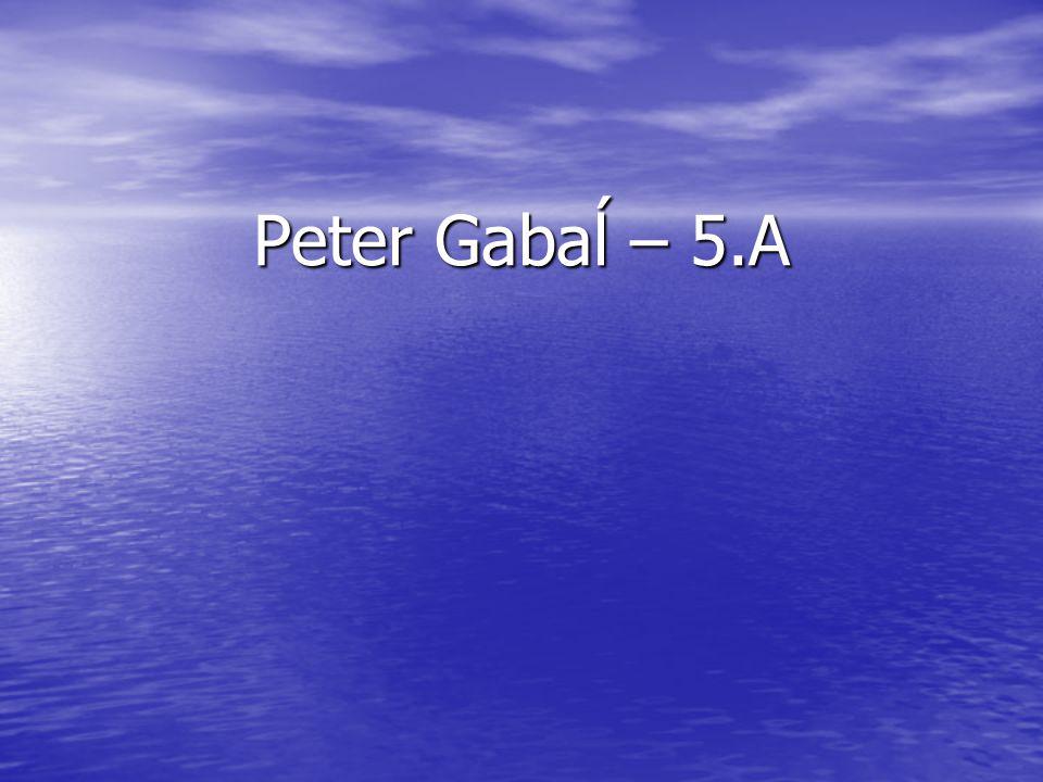 Peter Gabaĺ – 5.A