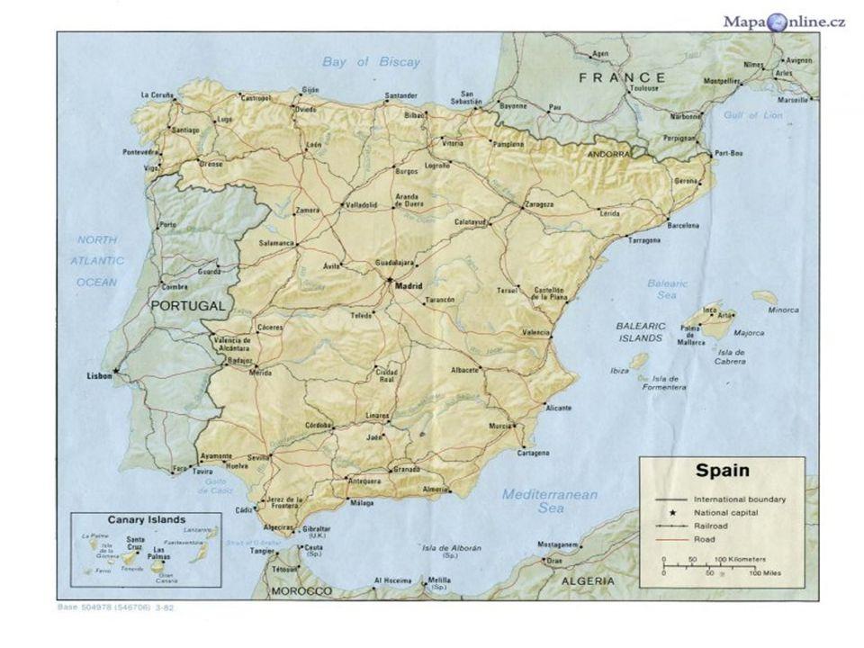 POVRCH POVRCH Zaujímá přibližně 84% Pyrenejského poloostrova.