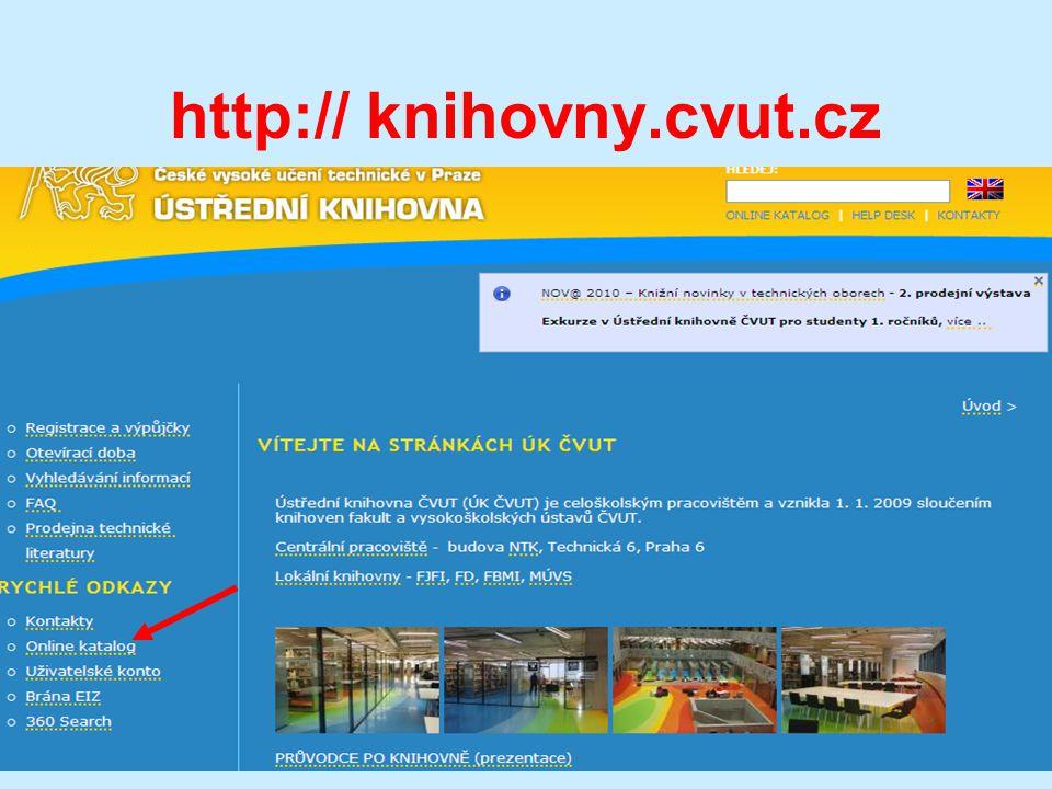 http:// knihovny.cvut.cz