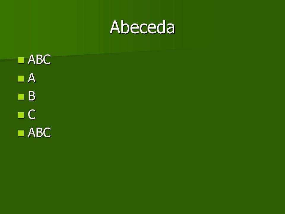 Abeceda ABC ABC A B C