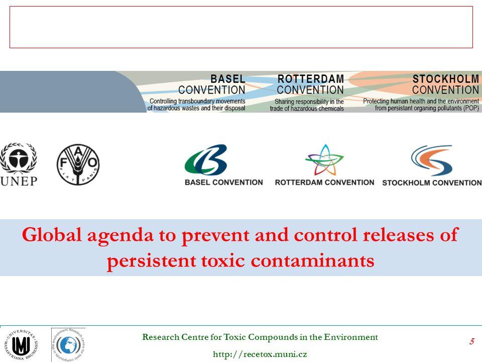"""36 Research Centre for Toxic Compounds in the Environment http://recetox.muni.cz Subprogram životní prostředí v EHK OSN Hlavní aktivity  Aktivity se plánují ve dvouletém cyklu; řeší se ve Výboru pro politiku životního prostředí  Podpora procesu """"Životní prostředí pro Evropu  Podpora implementace mnohostranných environmentálních smluv EHK OSN  program hodnocení stavu a politik životního prostředí - tzv."""