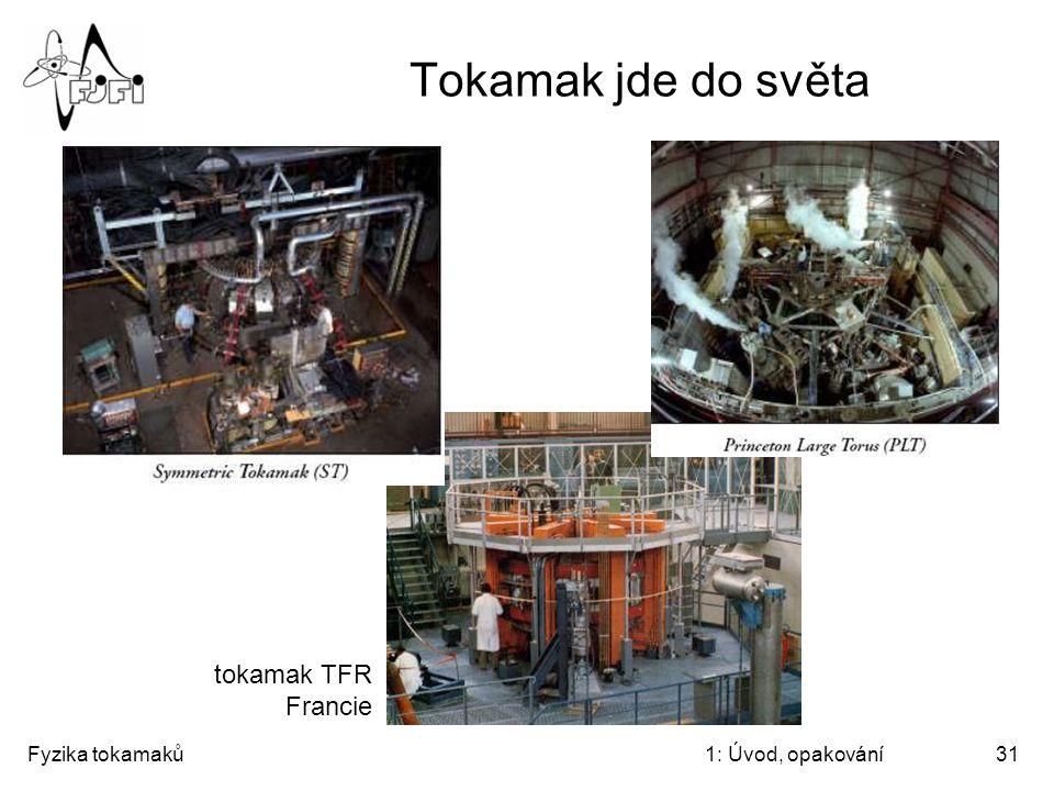 Fyzika tokamaků1: Úvod, opakování31 Tokamak jde do světa tokamak TFR Francie