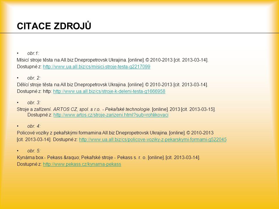 CITACE ZDROJŮ obr.1: Mísicí stroje těsta na All.biz Dnepropetrovsk Ukrajina. [online]. © 2010-2013 [cit. 2013-03-14]. Dostupné z: http://www.ua.all.bi