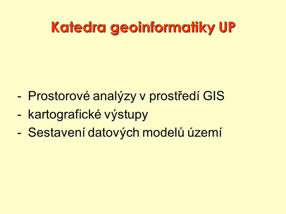 Katedra geoinformatiky UP -Prostorové analýzy v prostředí GIS -kartografické výstupy -Sestavení datových modelů území