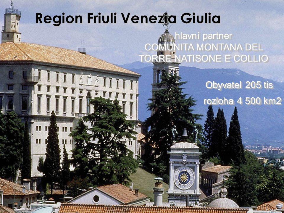 Region Friuli Venezia Giulia hlavní partner COMUNITA MONTANA DEL TORRE NATISONE E COLLIO hlavní partner COMUNITA MONTANA DEL TORRE NATISONE E COLLIO r