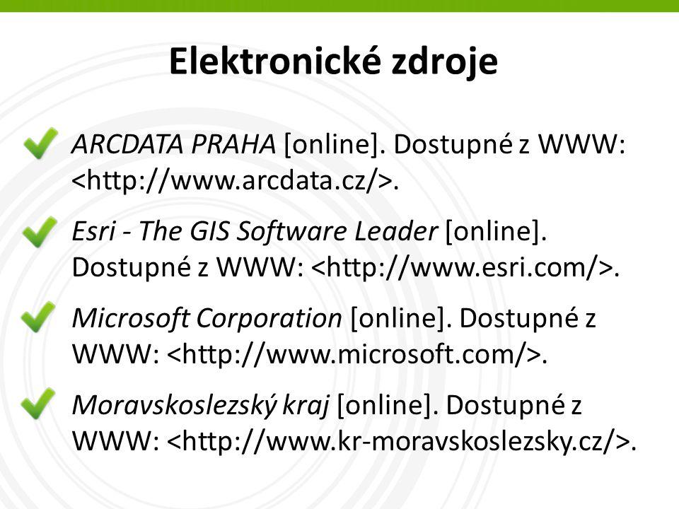 Elektronické zdroje ARCDATA PRAHA [online]. Dostupné z WWW:.