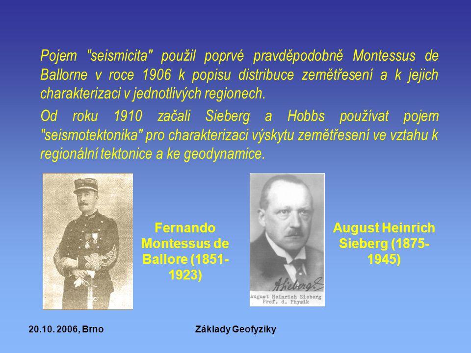 20.10. 2006, BrnoZáklady Geofyziky Pojem