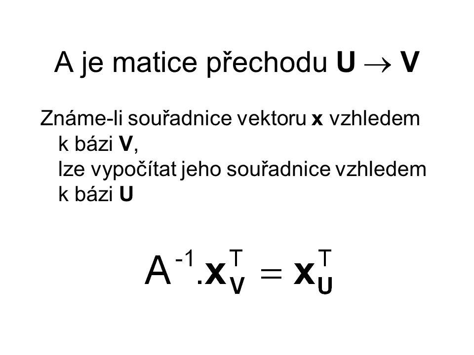 Regulární matice Čtvercová Nezávislé řádky a sloupce Existuje inverzní matice Determinant nenulový