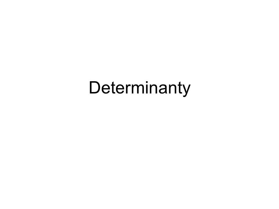 Každé čtvercové matici A řádu n lze jednoznačně přiřadit reálné číslo det(A), které nazýváme determinant matice A