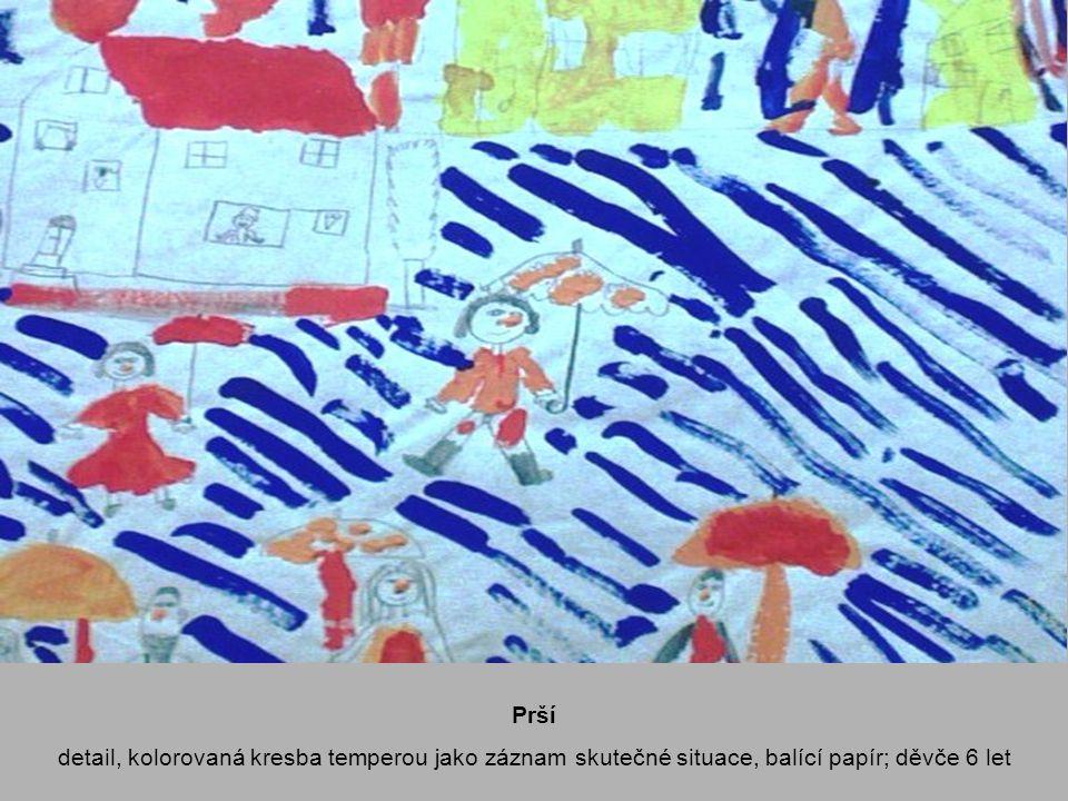 Sleduji, co to udělá výtvarný zážitek, kreslící karton A3, tuš, pero; děvče 12 let