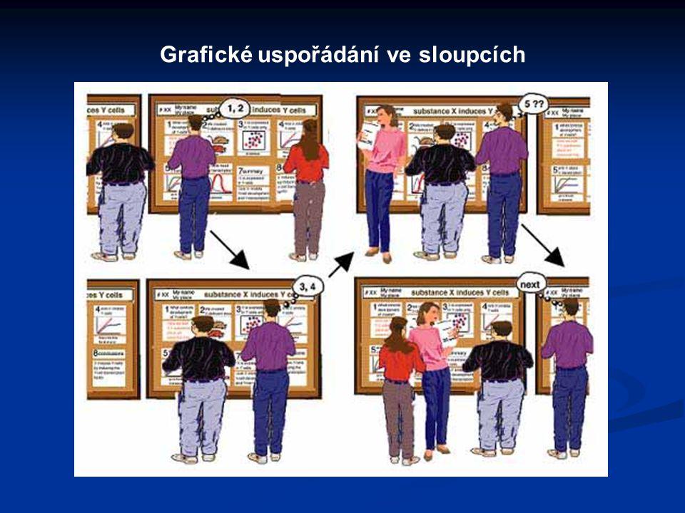 Grafické uspořádání ve sloupcích