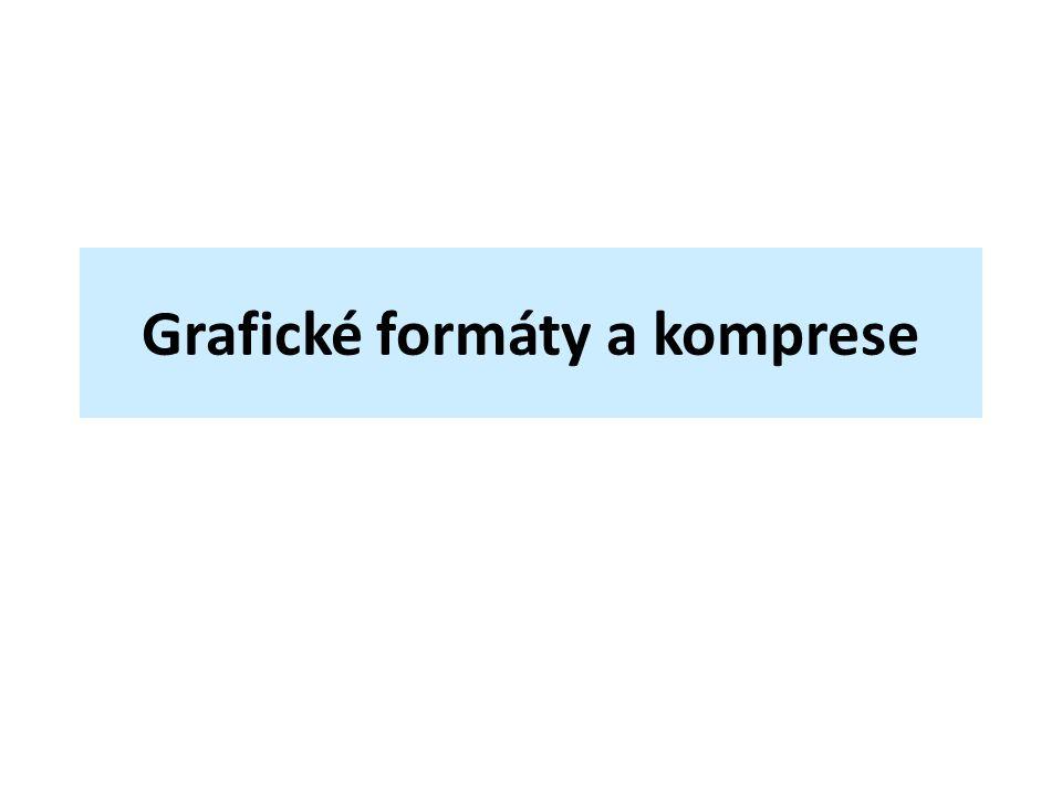 Grafické formáty a komprese