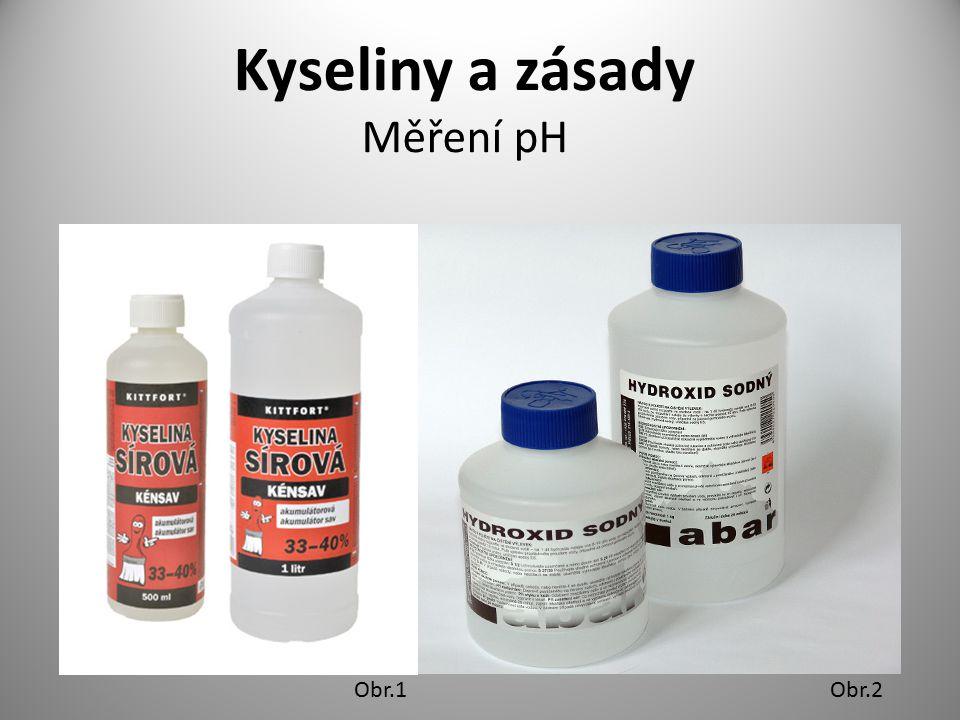 Kyseliny a zásady Měření pH Obr.1Obr.2