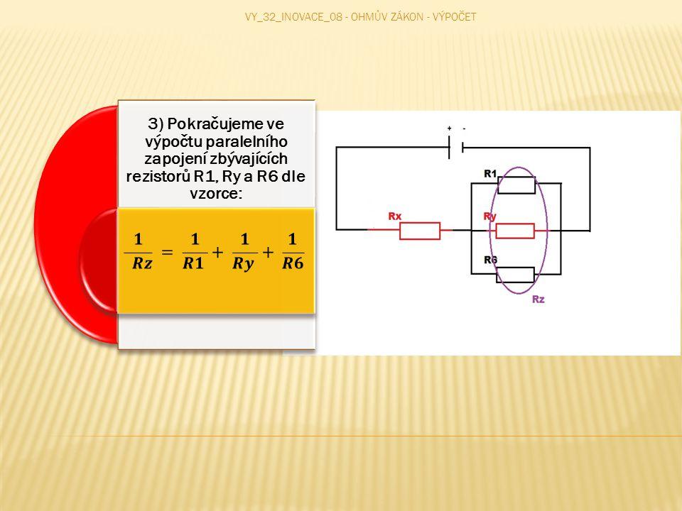 4) V posledním kroku vypočítáme zbylé rezistory, které jsou zapojeni do serie.