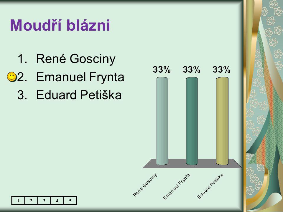 Moudří blázni 1.René Gosciny 2.Emanuel Frynta 3.Eduard Petiška 12345