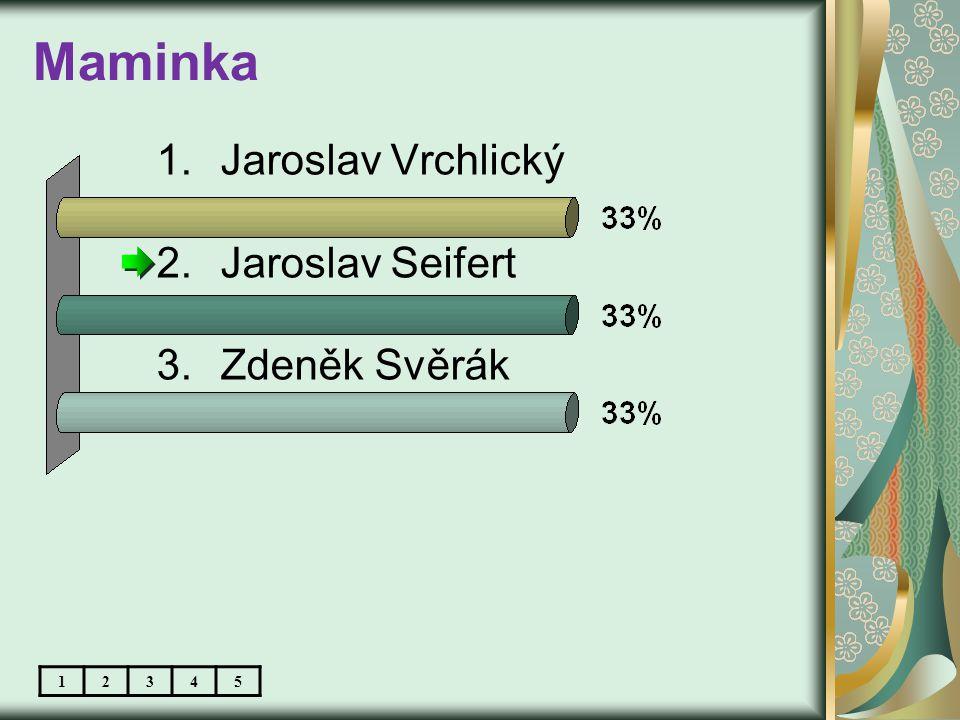 Maminka 1.Jaroslav Vrchlický 2.Jaroslav Seifert 3.Zdeněk Svěrák 12345