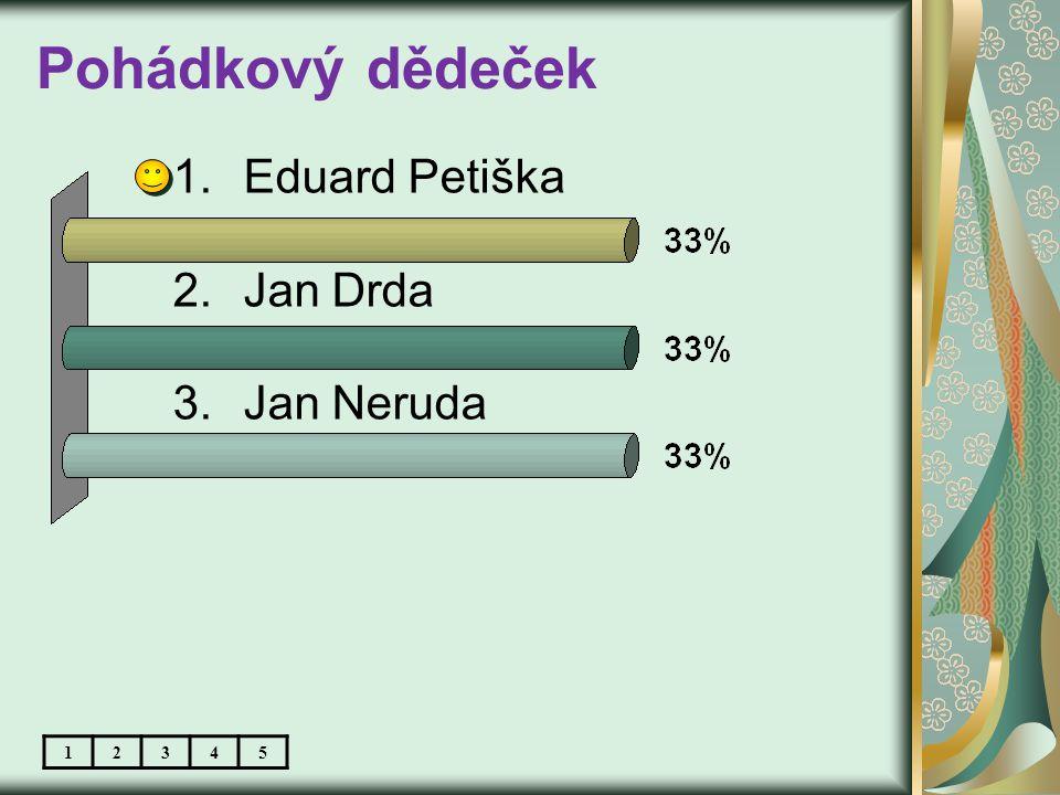 Pohádkový dědeček 1.Eduard Petiška 2.Jan Drda 3.Jan Neruda 12345