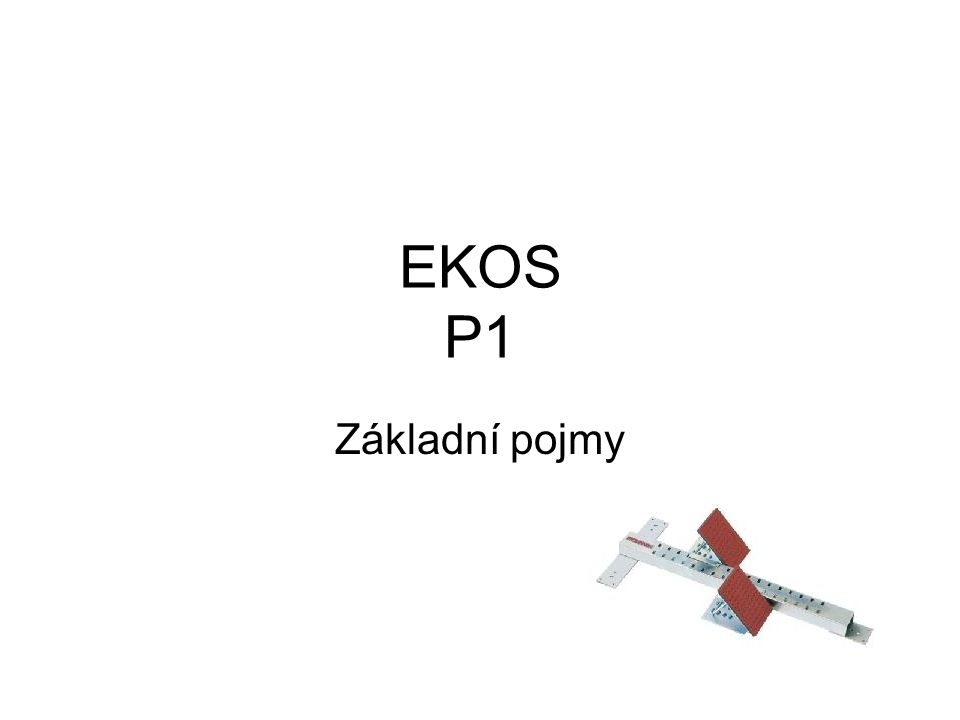 EKOS P1 Základní pojmy