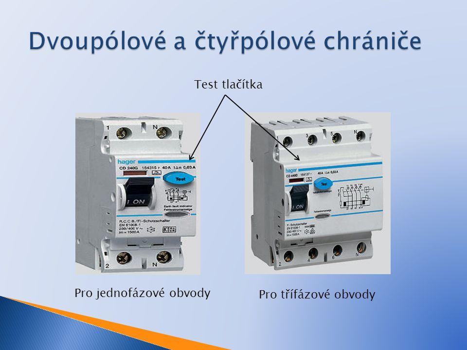 (1) Svorky vstupního napájení (2) Výstupní svorky zátěže (3) Resetovací tlačítko (4) Kontakty (druhý je za relé) (5) Relé vybavení (6) Rozdílový transformátor (7) Řídící elektronika (8) Testovací tlačítko (9) Testovací vodič (oranžový)