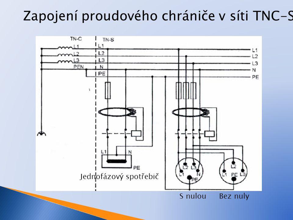proudové chrániče v síti TT, IT L1 Síť IT Síť TT