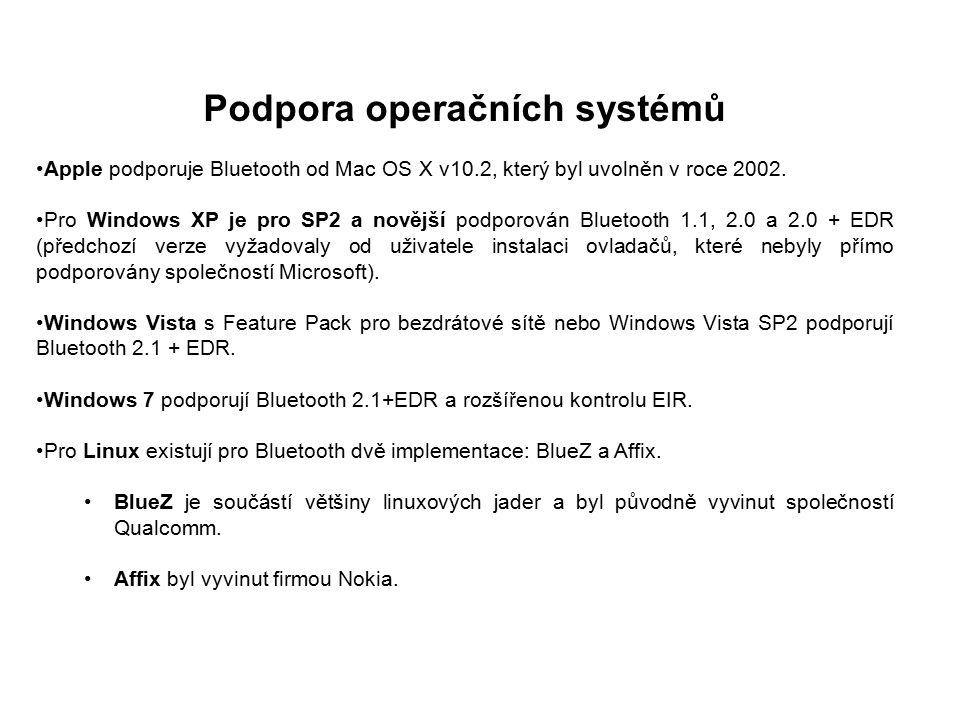 Specifikace a funkce Specifikace Bluetooth byla vyvinuta v roce 1994 firmou Ericsson.