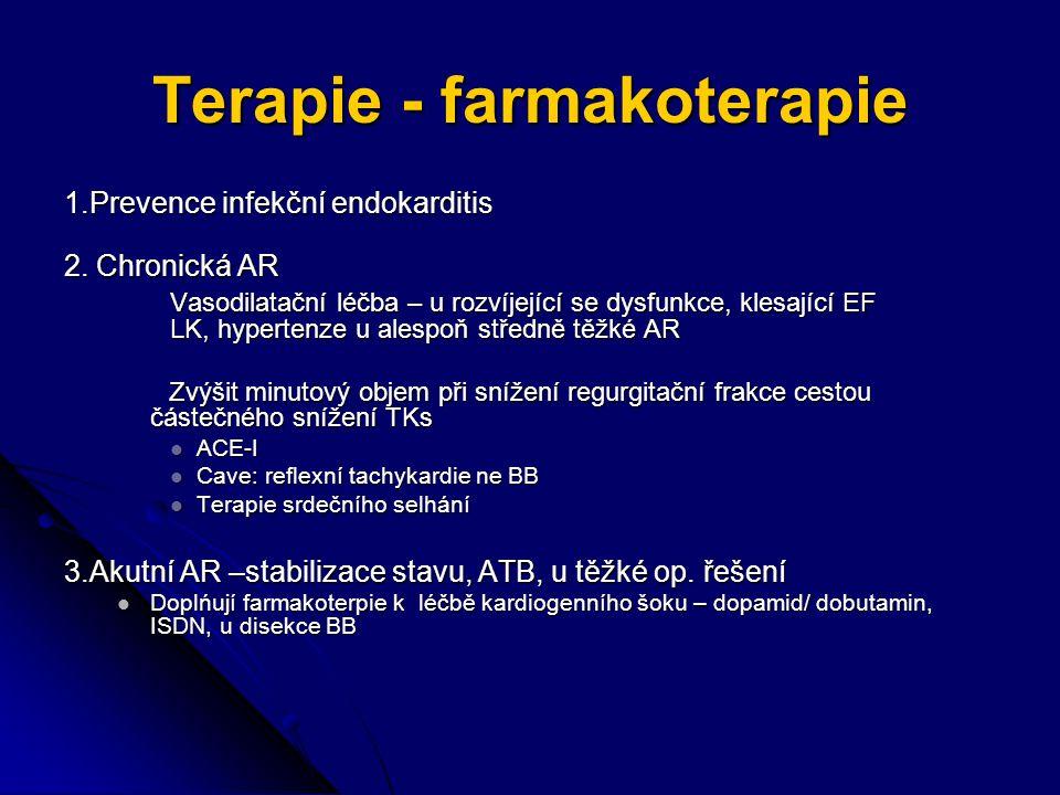 Terapie - farmakoterapie 1.Prevence infekční endokarditis 2.