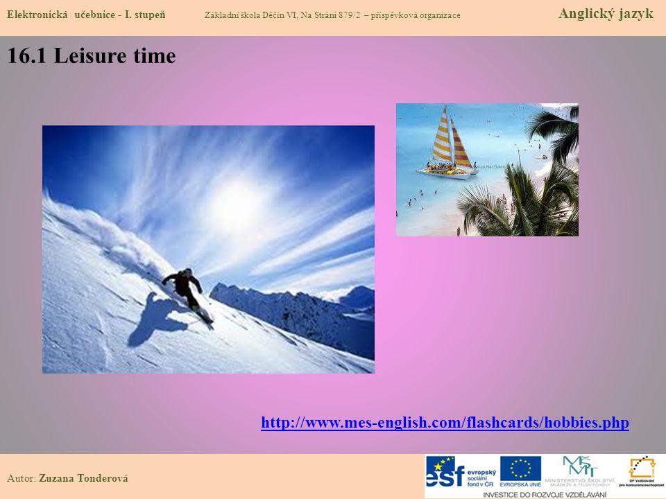 16.1 Leisure time Elektronická učebnice - I.