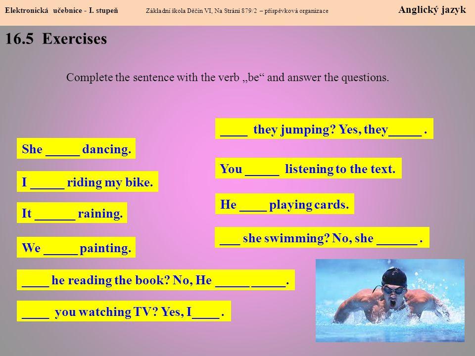 16.5 Exercises Elektronická učebnice - I.