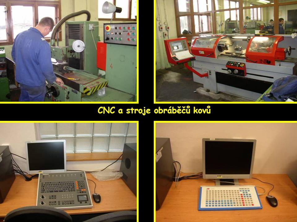 Škola má i pracoviště mimo budovu CNC a stroje obráběčů kovů