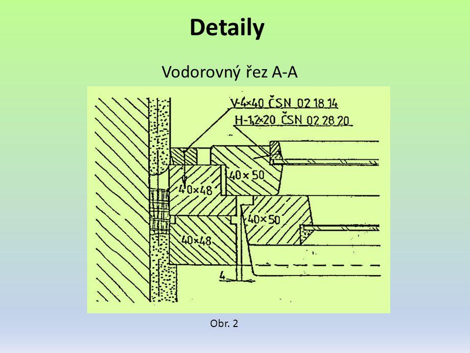 Detaily Obr. 3 Svislý řez B-B