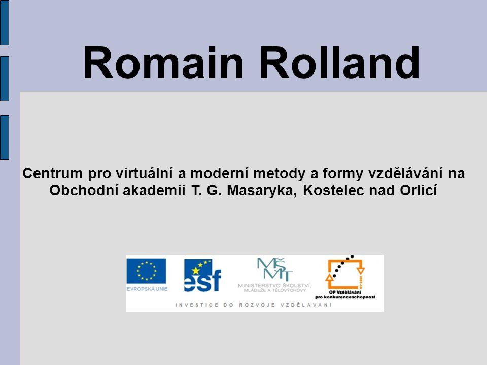 Romain Rolland Centrum pro virtuální a moderní metody a formy vzdělávání na Obchodní akademii T.