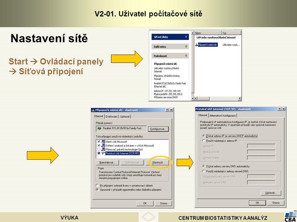 CENTRUM BIOSTATISTIKY A ANALÝZ VÝUKA V2-01. V2-01.
