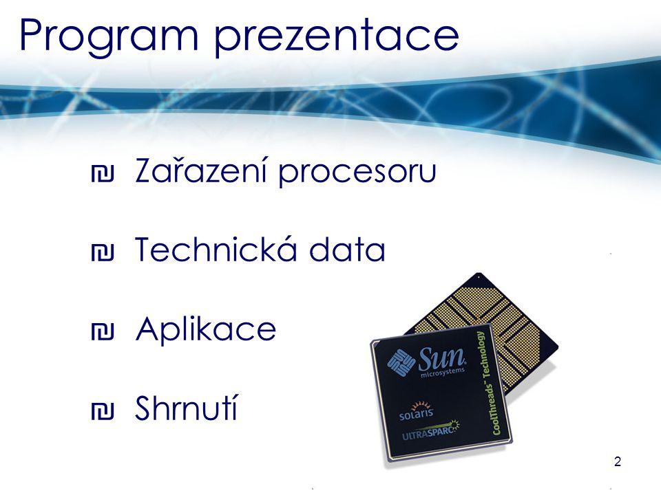 Zařazení procesoru část první