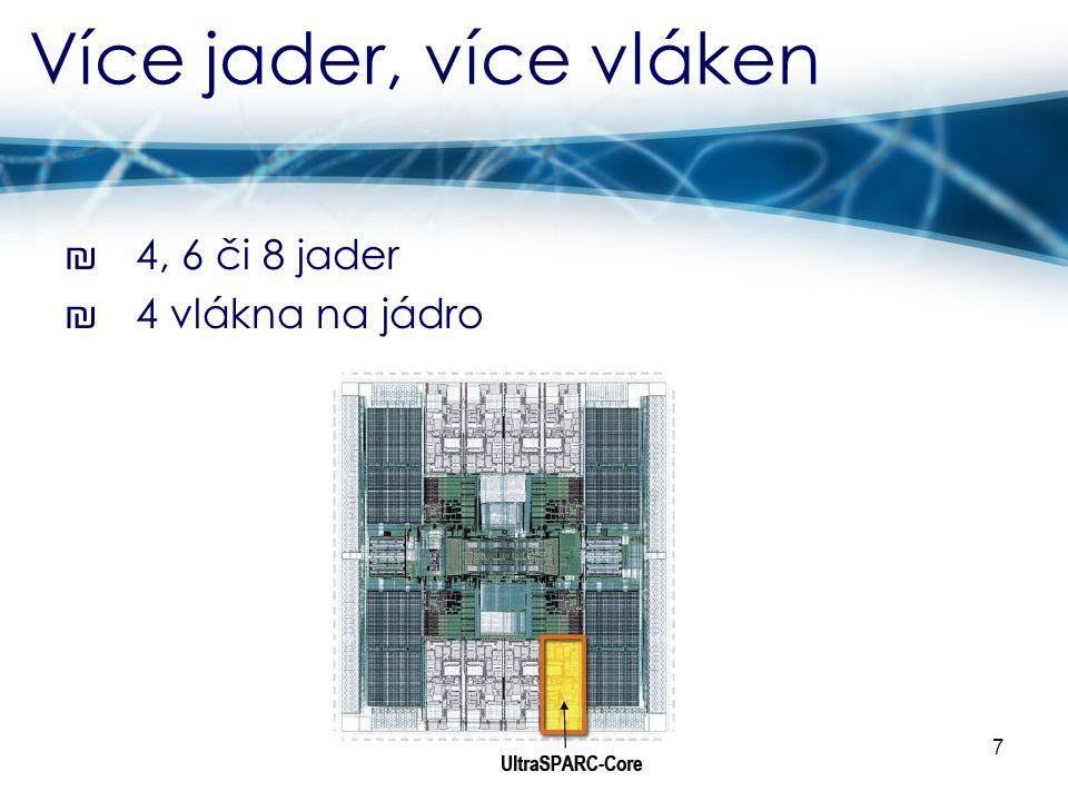 8 Základní data ₪ vyroben 90nm technologií ₪ 9vrstvý Cu metal CMOS proces ₪ taktovací kmitočet 1,0 nebo 1,2 GHz ₪ typická spotřeba 72 W