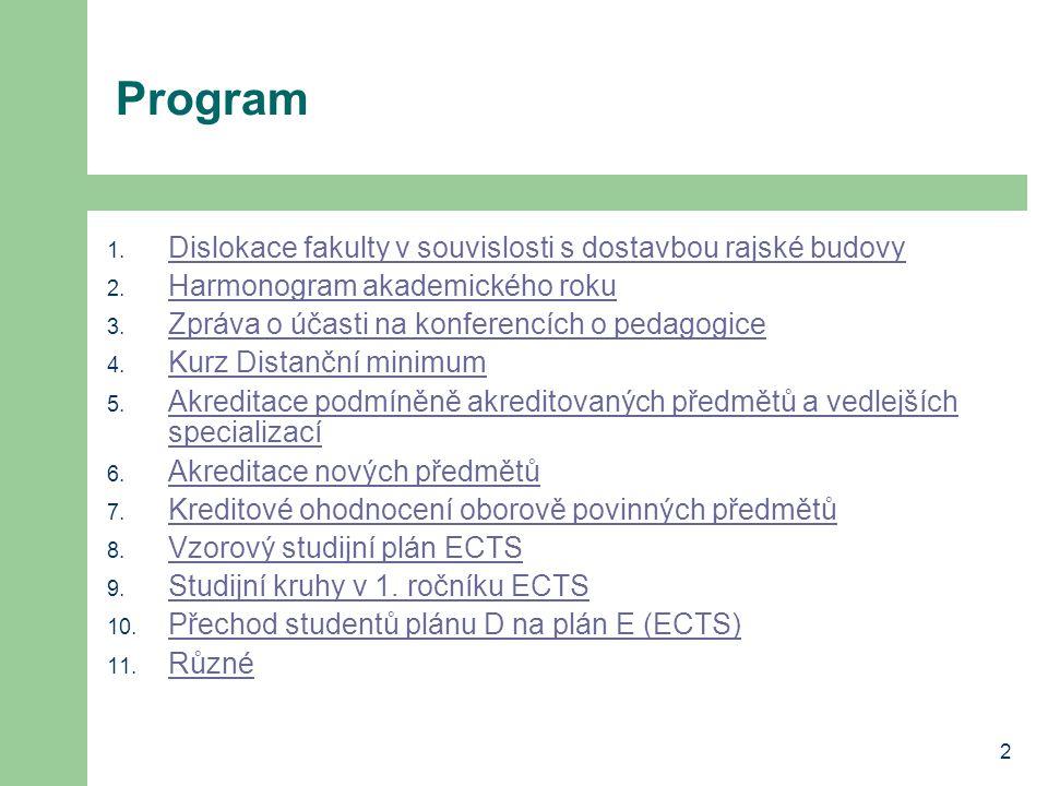 13 Vzorový studijní plán ECTS bakalářské studium – var.
