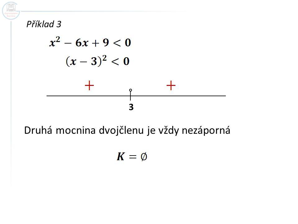 Příklad 4 Srovnejte řešení nerovnic: a) b) 2 + + 2