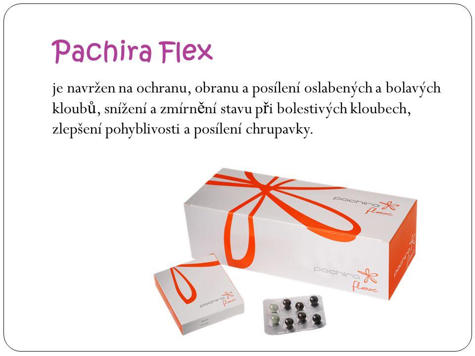 Pachira Flex je navržen na ochranu, obranu a posílení oslabených a bolavých kloub ů, snížení a zmírn ě ní stavu p ř i bolestivých kloubech, zlepšení p