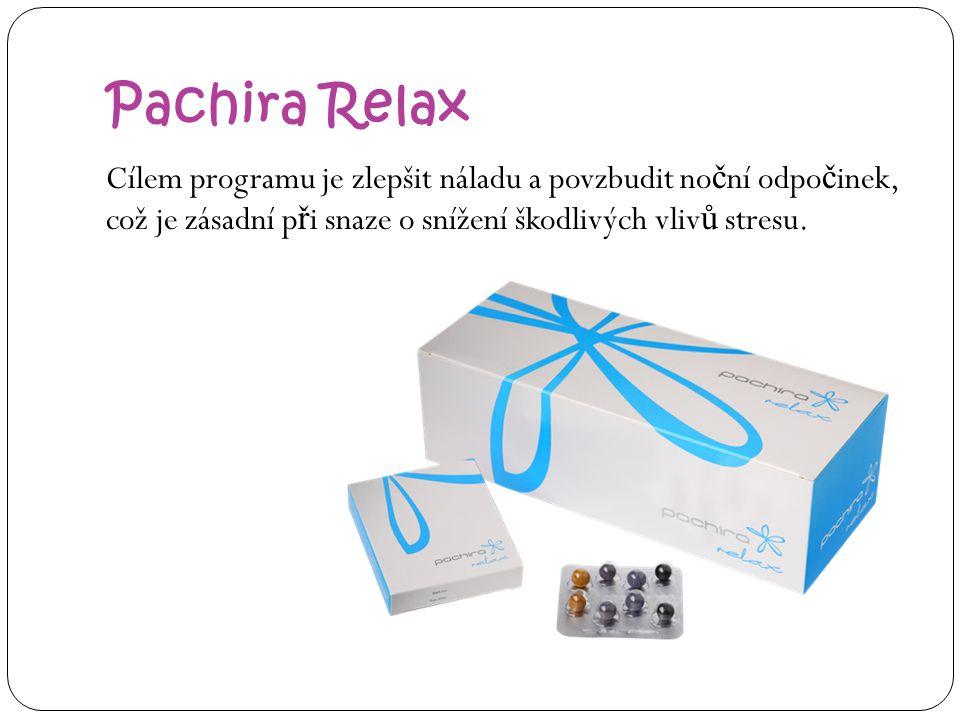 Pachira Relax Cílem programu je zlepšit náladu a povzbudit no č ní odpo č inek, což je zásadní p ř i snaze o snížení škodlivých vliv ů stresu.