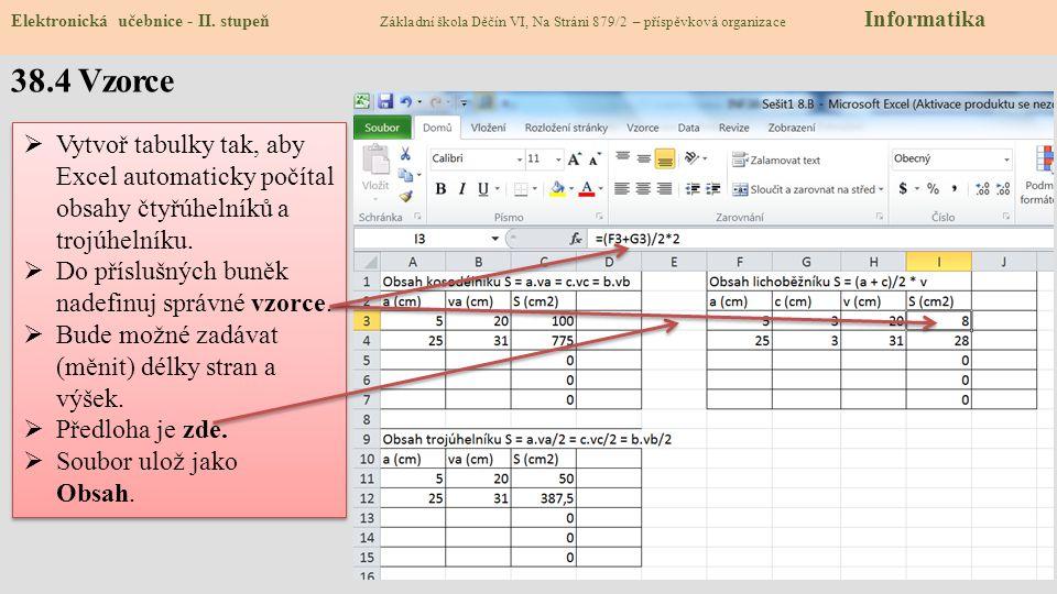 38.5 Cvičení Elektronická učebnice - II.